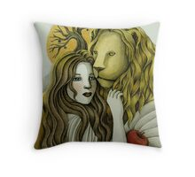 By Sunset - The Lady and the Lion Throw Pillow