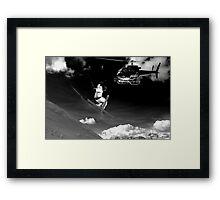 ski jump stunt Framed Print