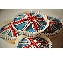 Cup cakes to celebrate the big day Photographic Print