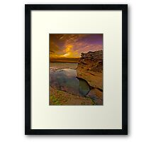 Rock Pool two in Colour Framed Print