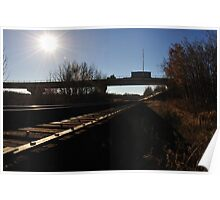 Camrose Train Trestle in Fall Poster