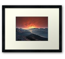 Forest Valley Sunset Framed Print