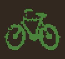 1 bit pixel bike (green) by Pekka Nikrus