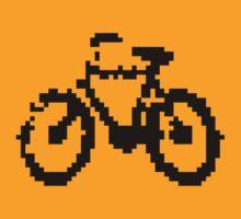 1 bit pixel bike (black) by Pekka Nikrus