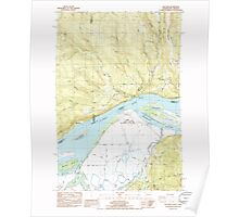USGS Topo Map Washington Oak Point 242887 1985 24000 Poster