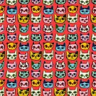 Kitty Faces by HappyDoodleLand