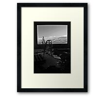 Window in the ruins Framed Print