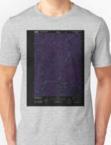 USGS Topo Map California Polar Bear Mountain 20120404 TM Inverted T-Shirt