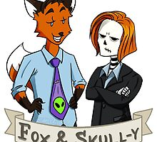 Fox and Skull-y by SamKatDizigns