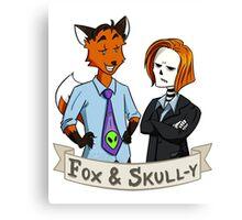 Fox and Skull-y Canvas Print