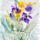 Irises in aqua by Stella  Shube As