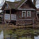 Old house and pond by Andrey Kudinov