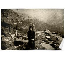 Me at Dephi, Greece 1969 Poster
