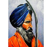 Sikh on patrol- Golden temple,Amritsar,India Photographic Print