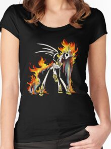 My Little Pony - MLP - FNAF - Nightmare Star Animatronic Women's Fitted Scoop T-Shirt