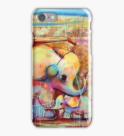 musical rainbow elephants iPhone Case/Skin