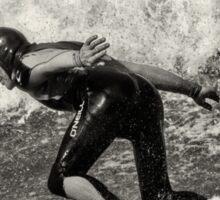 Park Beach Surf #16 Black and White Sticker