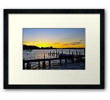 Sunset Manning River Framed Print