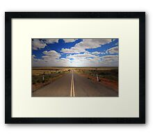 Light at the End of the Road Framed Print