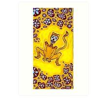 Cheetah Day of the Dead Art Print