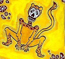 Cheetah Dia de los Muertos by Angelo M. Esquivel