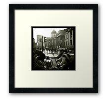 Bicycles, London Framed Print