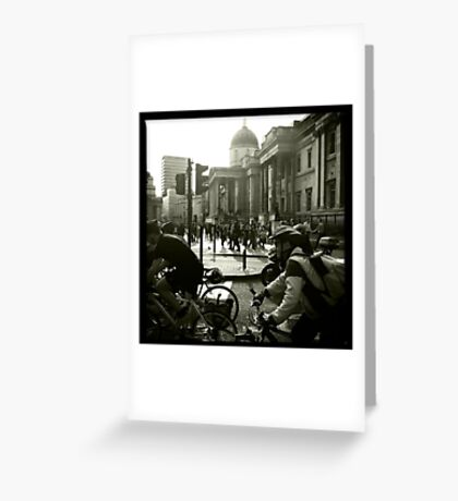 Bicycles, London Greeting Card