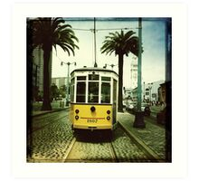 Tram, San Francisco Art Print