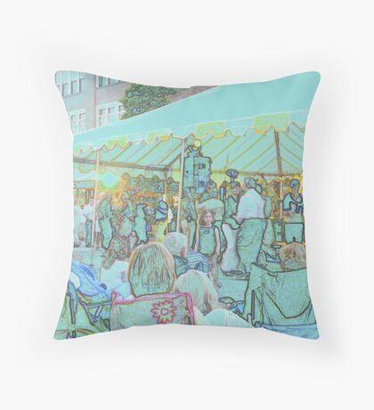Pencil Sketch of Street Dance Throw Pillow