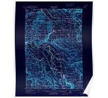 USGS Topo Map Oregon Boring 282271 1914 62500 Inverted Poster