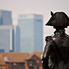 Nelson and the Docklands  by richard  webb