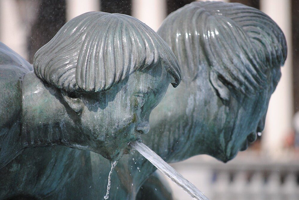 fountain detail, trafalgar square by richard  webb