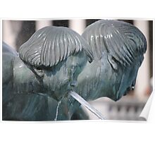 fountain detail, trafalgar square Poster