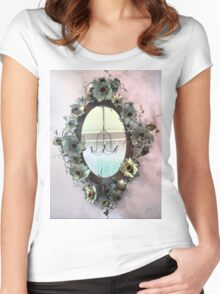 Mirror, Mirror, On the Wall. Women's Fitted Scoop T-Shirt