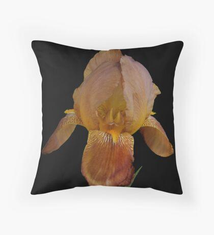 Peach Iris Throw Pillow