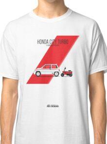 Honda City Turbo & Motocompo Classic T-Shirt