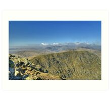 England's Highest Mountains Art Print