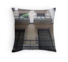 Raining balcony Throw Pillow