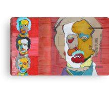 Edgar with colour Canvas Print