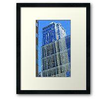 Skyscraper Reflection Framed Print