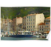 Harbourlife in Bonifacio-Corsica Island Poster