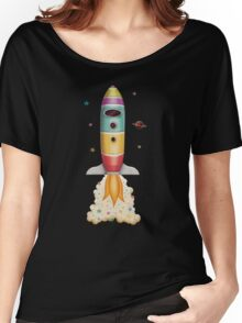 Rocket to Outer Space Women's Relaxed Fit T-Shirt