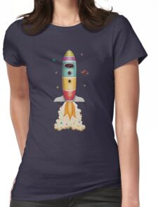 Rocket to Outer Space Womens Fitted T-Shirt