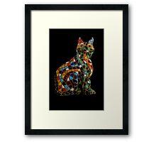 Full Colour Mosaic Cat Framed Print