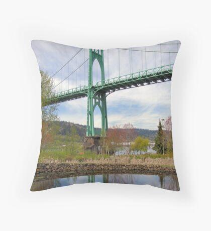 St Johns Bridge, Portland, Oregon Throw Pillow