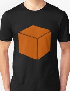 Cube Shape Sticker T-Shirt