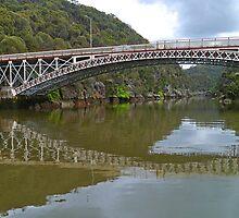 Kings Bridge and Cataract Gorge, Launceston Tas, Australia by Margaret  Hyde