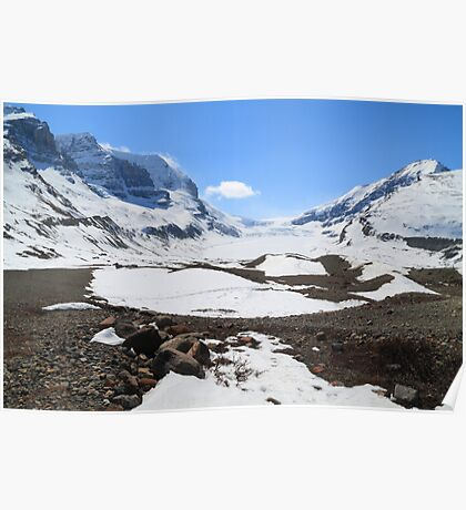 Snow covered glacier Poster