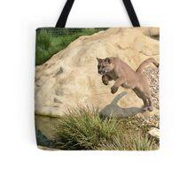 Leaping Puma... Tote Bag