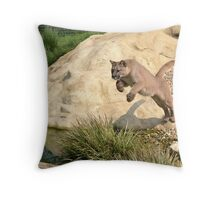Leaping Puma... Throw Pillow
